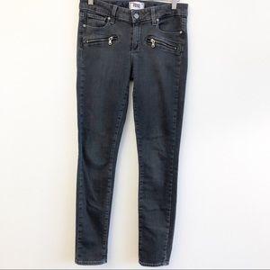 PAIGE Indigo Zip Gray Denim Jeans SZ 27